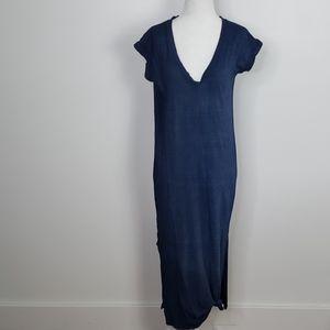 Cloth & Stone Anthropologi Riley Blue Maxi Dress